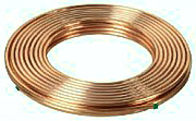 a roll of copper tubing